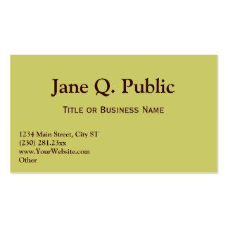 Business Card Templates Tan