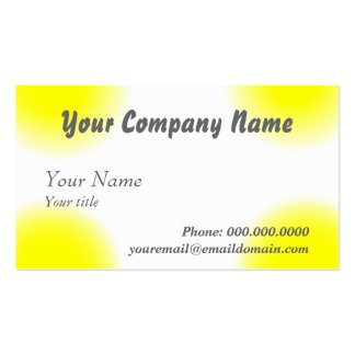 Business Card The Increase Saturation Yellow Style