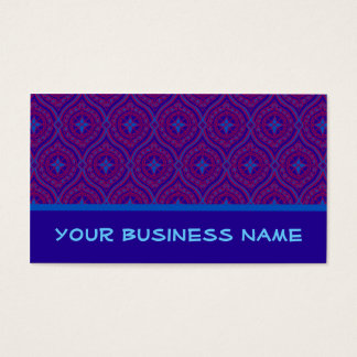 Business Card to Customize: Purple and Blue Ogees