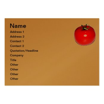 Business Card  Tomato Design by CREATIVEforBUSINESS at Zazzle