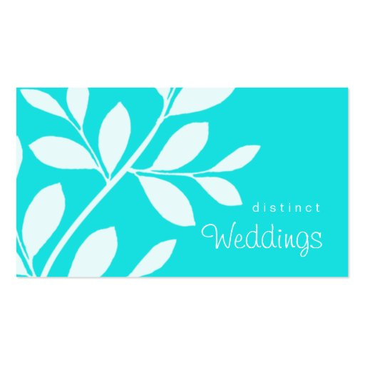 Business Card Tree Branch Wedding Planner