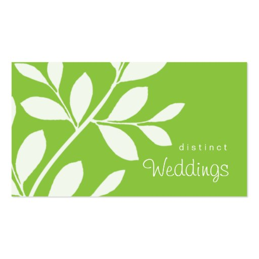 Business Card Tree Branch Wedding Planner green