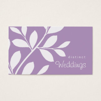 Business Card Tree Branch Wedding Planner Mauve