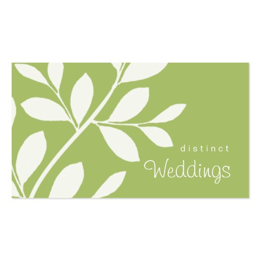 Business Card Tree Branch Wedding Planner sage