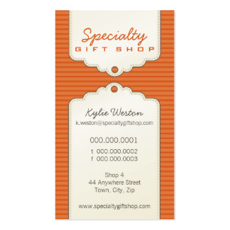 BUSINESS CARD :: trendy gifttag P1