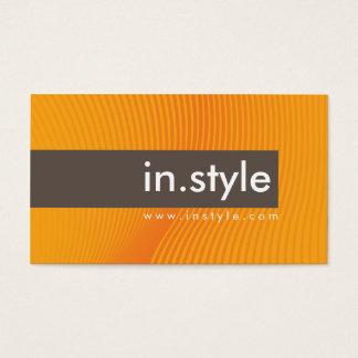 BUSINESS CARD trendy modern sway orange brown