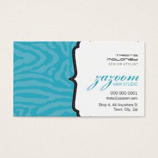 BUSINESS CARD trendy zebra stripe