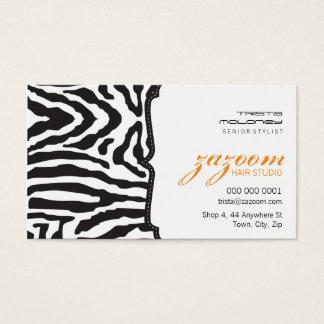 BUSINESS CARD trendy zebra stripe orange