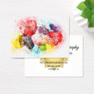 Business Card Umbrella Photographers Decoraters