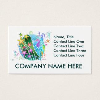 Business Card -  Under The Sea Pop Art