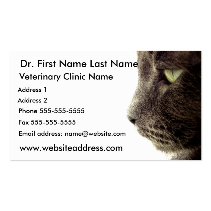 Business Card - Veterinary Clinic