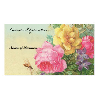Business Card-Vintage Floral Double-Sided Standard Business Cards (Pack Of 100)