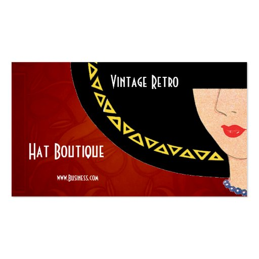 Business card vintage retro hat boutique art deco zazzle - Boutique deco vintage ...