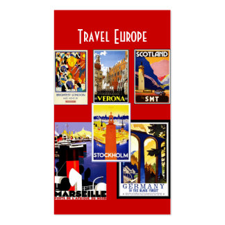 Business Card Vintage Travel Agent Europe