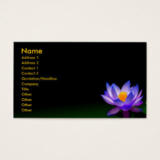 Business card, violet blue lotus business card