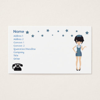 Business card waitress