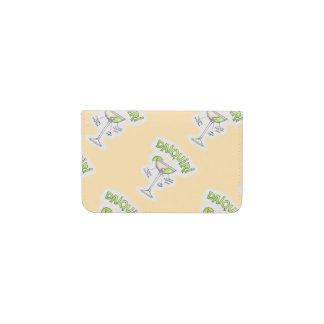 BUSINESS CARD WALLET, DAIQUIRI RECIPE COCKTAIL ART BUSINESS CARD HOLDER