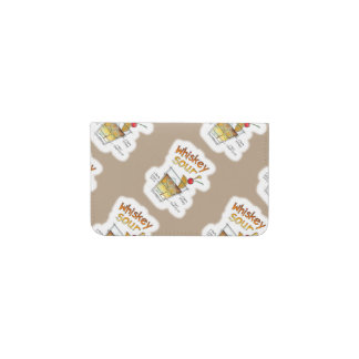 BUSINESS CARD WALLET - WHISKEY SOUR RECIPE ART BUSINESS CARD HOLDER