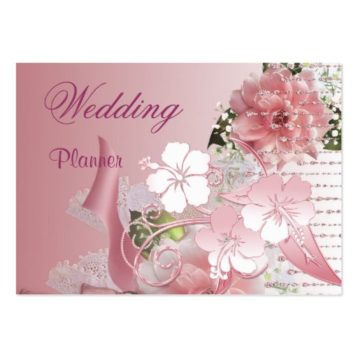 Business Card Wedding Planner Pink
