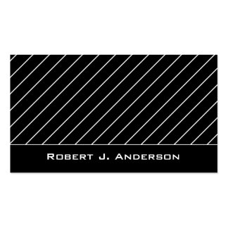 Business Card :: White & Black Striped Modern