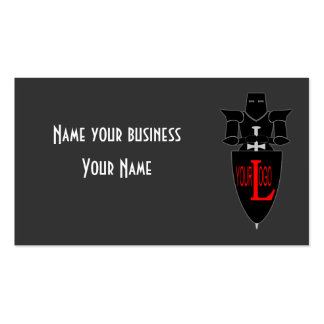 Business card with a motif of a knight