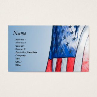 Business Card with American Flag