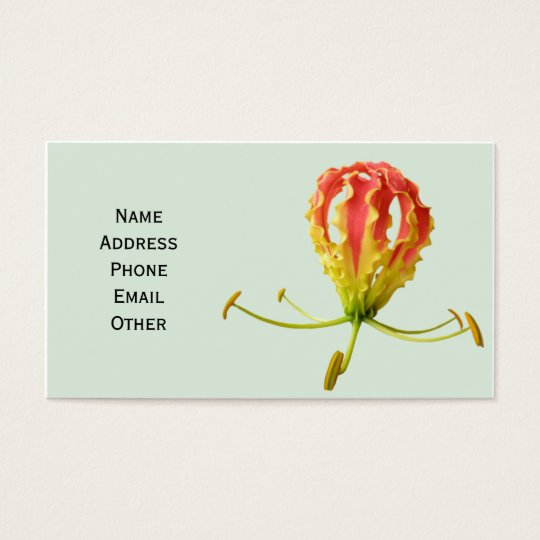 Business Card with Beautiful Flower
