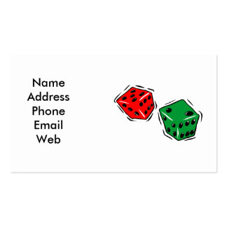 Business Card with Casino Dice