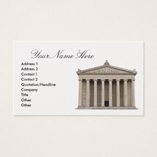 Business Card with Classical Architecture