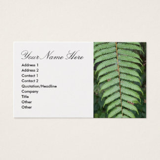 Business Card with Fern Motif