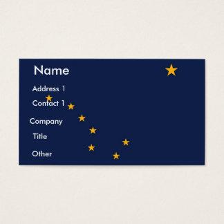 Business Card with Flag of Alaska U.S.A.