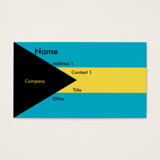 Business Card with Flag of Bahamas