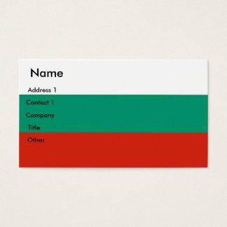 Business Card with Flag of Bulgaria