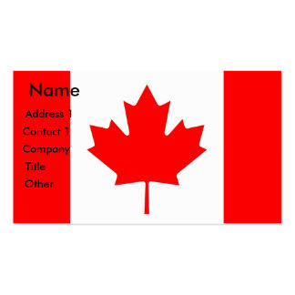 Business Card with Flag of Canada