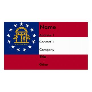 Business Card with Flag of Georgia U.S.A.