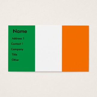 Business Card with Flag of Ireland