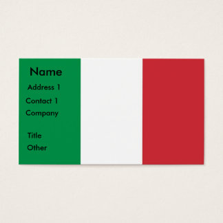 Business Card with Flag of Italy