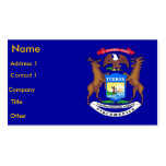 Business Card with Flag of Michigan U.S.A.