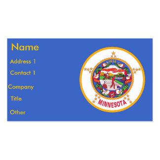 Business Card with Flag of Minnesota U S A
