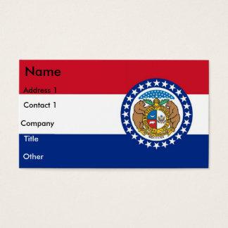 Business Card with Flag of Missouri U.S.A.