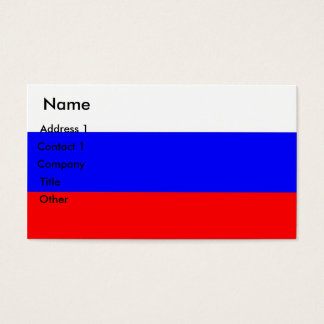 Business Card with Flag of Russia