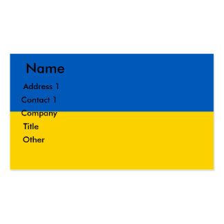 Business Card with Flag of Ukraine