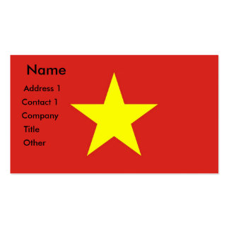 Business Card with Flag of Vietnam