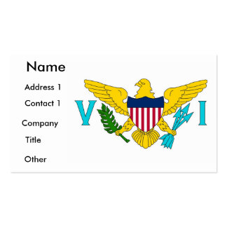 Business Card with Flag of Virgin Islands