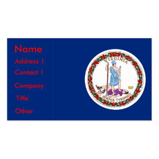 Business Card with Flag of Virginia U.S.A.