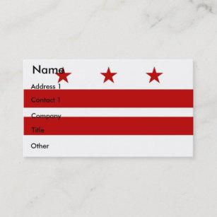 Washington dc flag business cards zazzle business card with flag of washington dc usa reheart Gallery