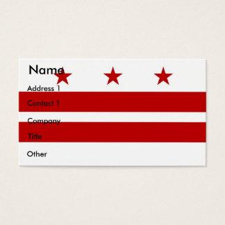 Business Card with Flag of Washington DC U.S.A.