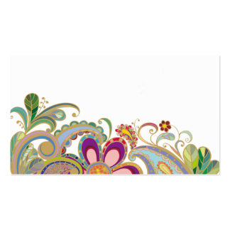 business card with flowers