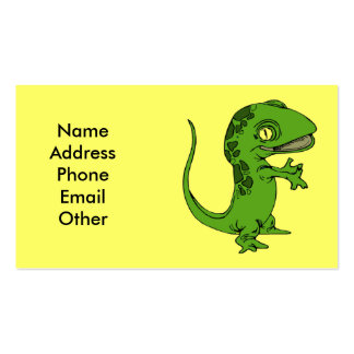 Business Card with Gecko