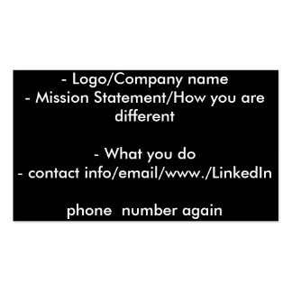 Business Card with info Layout